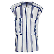 Buy Mango Two-Pocket Blouse, Dark Blue Online at johnlewis.com