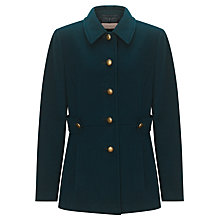 Buy John Lewis Button Detail Coat, Bottle Green Online at johnlewis.com