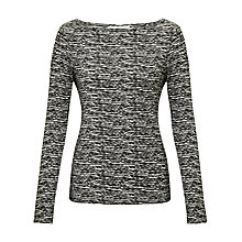 Buy John Lewis Cloud Stripe Top, Black / White Online at johnlewis.com