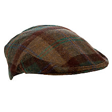 Buy Olney Kinloch Check Wool Flat Cap, Multi Online at johnlewis.com