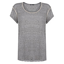Buy Mango Decorative Seam T-Shirt, Medium Grey Online at johnlewis.com