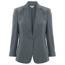 Buy Whistles Alma Linen Blazer, Grey Online at johnlewis.com