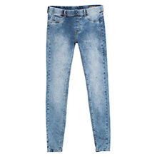 Buy Mango Bleached Wash Jeggings, Light Pastel Blue Online at johnlewis.com