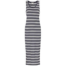 Buy Whistles Claire Jersey Midi Dress, Blue Multi Online at johnlewis.com