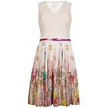Buy Ted Baker Wispy Mead Print Dress, Light Pink Online at johnlewis.com