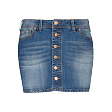 Buy Mango Medium Denim Mini Skirt, Medium Blue Online at johnlewis.com