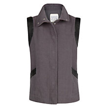 Buy Mango Appliqué Textured Gilet, Dark Grey Online at johnlewis.com