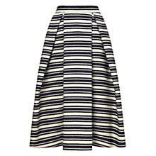 Buy Whistles Stripe Midi Skirt, Blue Multi Online at johnlewis.com