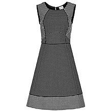 Buy Reiss Rico Geometric Fit and Flare Dress, Black/White Online at johnlewis.com