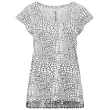 Buy Whistles Dragon Print Seam T-Shirt, Multi Online at johnlewis.com