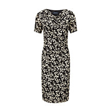 Buy Viyella Burnout Floral Jersey Dress, Black Online at johnlewis.com