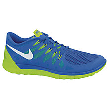 Buy Nike Free 5.0+ Men's Running Shoes, Blue/Green Online at johnlewis.com