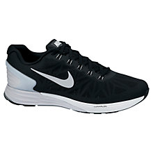 Buy Nike LunarGlide+ 6 Men's Running Shoes, Black/Pure Platinum Online at johnlewis.com