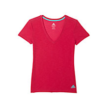 Buy Adidas Women's V-Neck Short Sleeve T-Shirt Online at johnlewis.com