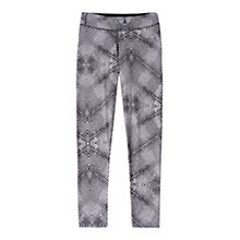 Buy Adidas Ultimate Fit Tight Printed Training Trousers, White/Black Online at johnlewis.com