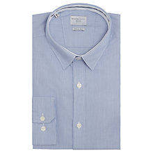 Buy Selected Homme Tobe Slim Fit Fine Stripe Shirt, Medieval Blue Online at johnlewis.com