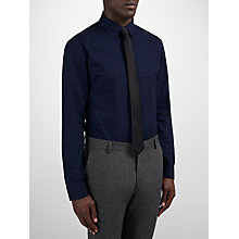 Buy Selected Homme One Moel Eric Check Shirt, Navy Online at johnlewis.com