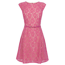 Buy Oasis Lace Skater Dress, Powder Pink Online at johnlewis.com