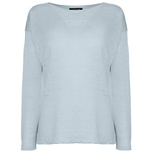 Buy Jaeger Wide Neck Linen Knit Top Online at johnlewis.com