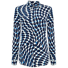 Buy Jaegar Spot Wave Patch Pocket Blouse, Blue Online at johnlewis.com