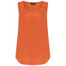 Buy Jaeger Washed Silk Shell Top, Orange Online at johnlewis.com