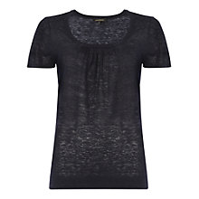 Buy Jaeger Gathered Neck Linen Knit Tee Online at johnlewis.com