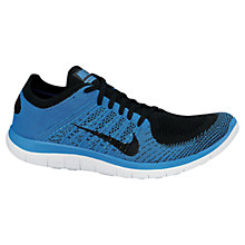 Buy Nike Men's Free 4.0 Flyknit Running Trainers, Blue/Black Online at johnlewis.com