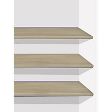 Buy Set of 3 John Lewis Elstra Wardrobe Shelves Online at johnlewis.com