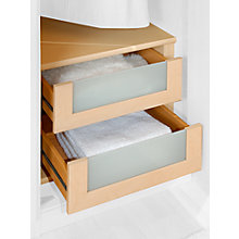 Buy Set of 2 John Lewis Elstra Wardrobe Internal Drawers with Glass Fronts Online at johnlewis.com