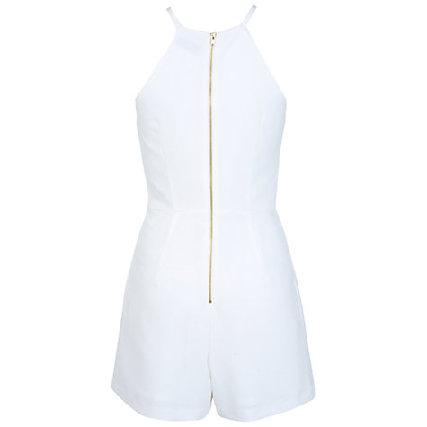 Buy Miss Selfridge Playsuit, Cream Online at johnlewis.com
