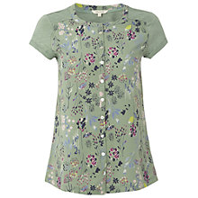 Buy White Stuff Pressed Flower Shirt, Willow Green Online at johnlewis.com