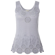 Buy White Stuff Meegan Vest, Light Periwinkle Online at johnlewis.com