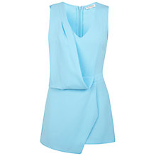 Buy Miss Selfridge Draped Skort Playsuit, Blue Online at johnlewis.com