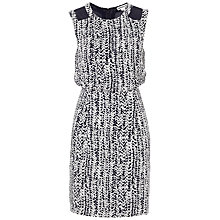 Buy Whistles Alison Braid Print Dress, Navy / White Online at johnlewis.com