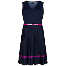 Buy Ted Baker Imogene Pleated Skirt Dress, Navy Online at johnlewis.com
