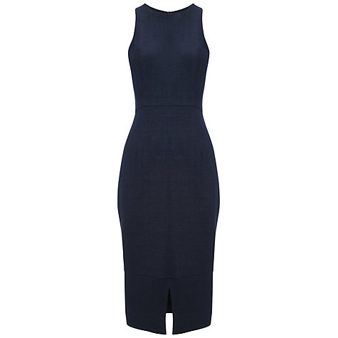 Buy Whistles Split Hem Midi Dress, Navy Online at johnlewis.com