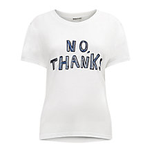 Buy Whistles No Thanks T-Shirt, White Online at johnlewis.com