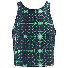 Buy Whistles Kaleidoscope Crop Top, Green Multi Online at johnlewis.com