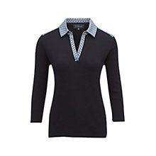 Buy Viyella Printed Collar Polo Shirt, Navy Online at johnlewis.com