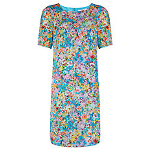 Buy COLLECTION by John Lewis Floral Shift Dress, Aqua Online at johnlewis.com