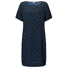 Buy Kin by John Lewis Marble Print Dress, Navy Online at johnlewis.com