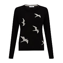 Buy COLLECTION by John Lewis Intarsia Bird Jumper, Black Online at johnlewis.com