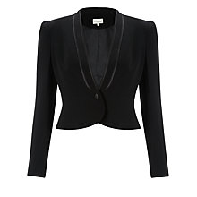 Buy Somerset by Alice Temperley Satin Trim Jacket, Black Online at johnlewis.com
