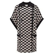 Buy Somerset by Alice Temperley Oversized Knitted Jacket, Black/Cream Online at johnlewis.com