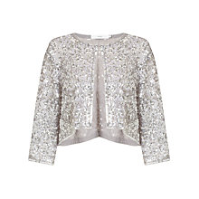Buy John Lewis Sequin Jacket, Silver Online at johnlewis.com