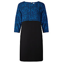 Buy Kin by John Lewis Cross Hatch Print Dress, Blue/Black Online at johnlewis.com