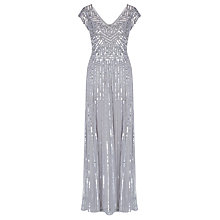 Buy John Lewis Sequin Dress, Silver Online at johnlewis.com