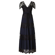 Buy Somerset by Alice Temperley Lace Tiered Maxi Dress, Black/Navy Online at johnlewis.com