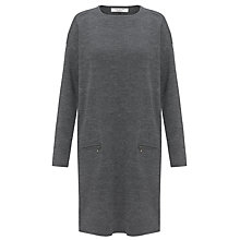 Buy COLLECTION by John Lewis Zip Detail Knit Dress, Grey Online at johnlewis.com