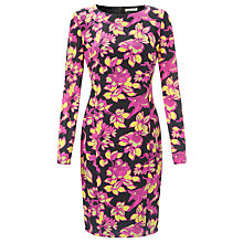 Buy Somerset by Alice Temperley Winter Floral Silk Dress, Pink Online at johnlewis.com